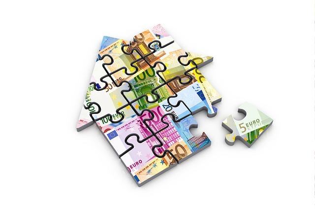 puzzle, peníze, domek
