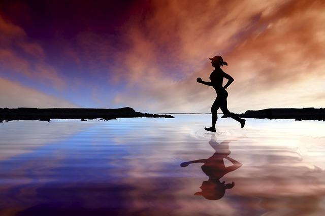běžkyně po vodě