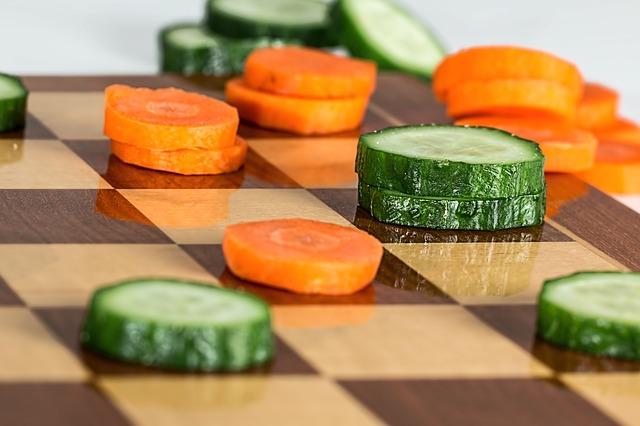 zelenina místo figurek