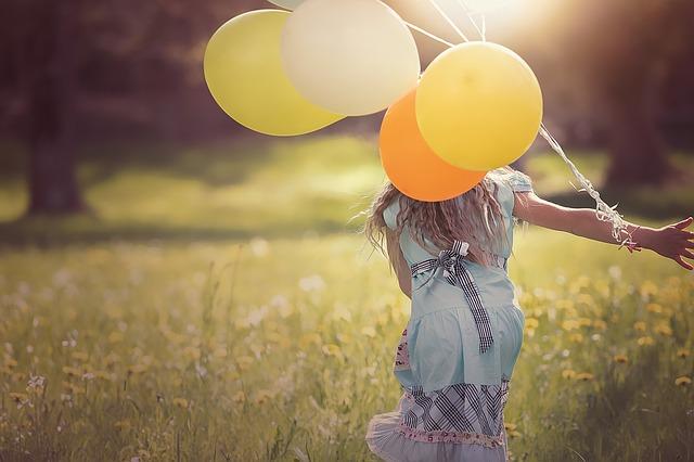 běhání s balonky