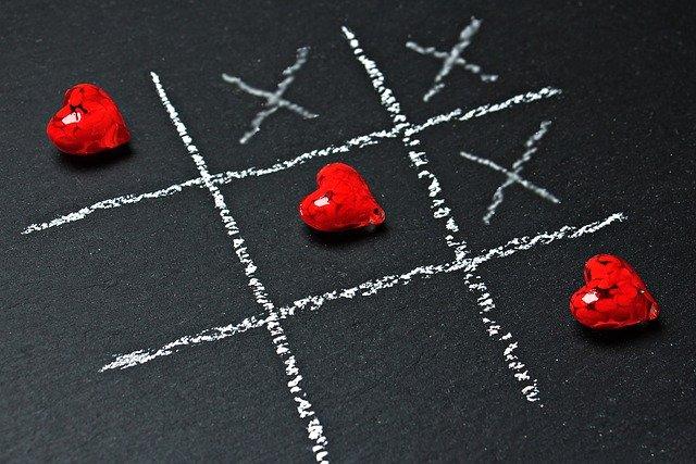 piškvorky se srdcem